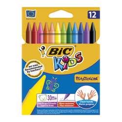 Bic Plastidecor Crayons, 12 Pieces Per Pack