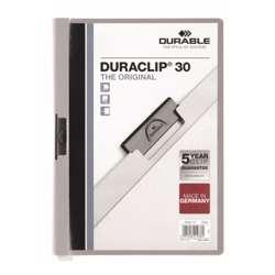Durable 2200-10 Duraclip, Grey Colour, A4 Size, 30 Sheets Capacity