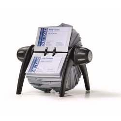 Durable 2417-01 Visifix Rotary Index File, Black Colour