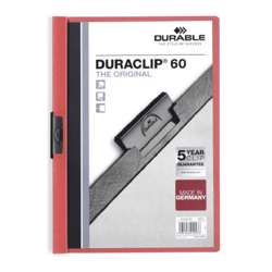 Durable 2209-03 Duraclip A4 Size Red Color