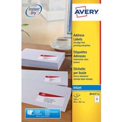 Avery Address Labels For Inkjet Printers J8163-25, 99.1x38.1mm Labels, White, 14 Labels Per Sheet, 25 Sheets In A Pack preview