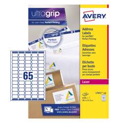 Avery Mini Laser Labels, L7651-100, 38x21mm White, 65 Labels Per Sheet, 100 Sheets In A Pack preview