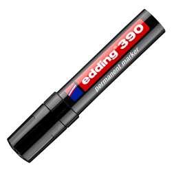 Edding E-390 Permanent Marker, Black Colour Chisel Nib