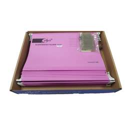Elfen 927 Deluxe Suspension Folder Fullscape Size Pack Of 50 Pieces Colour Pink