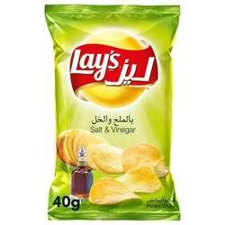 Lay's Salt & Vinegar Potato Chips (50x40g)