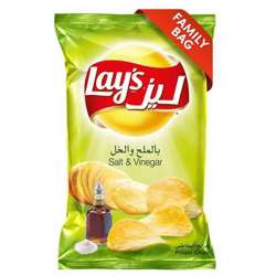 Lay's Salt & Vinegar Potato Chips (20x170g)