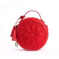 Gunas Rotunda Handbag Red