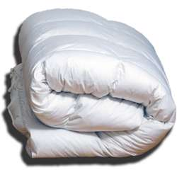 "Hungarian Goose Punkt Step Comforter King 107x96""73oz Winter Fill"