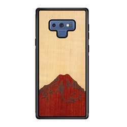WUDN Slim Wooden Phone Case - Mt. Rainier (Shimmering Maple Sky)