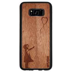 WUDN Slim Wooden Phone Case - Banksy Girl With a Balloon