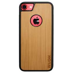WUDN Slim Wooden Apple Logo Cut-Out Case for iPhone