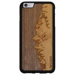 WUDN Slim Wooden Phone Case - Sawtooth Mountains Walnut Sky