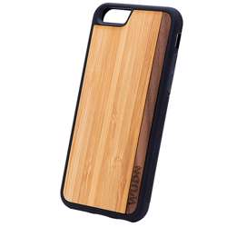 WUDN Slim Wooden Phone Case - Bamboo Walnut Stripe
