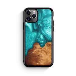 WUDN Slim Resin Wood Phone Case - Deep Sea Green