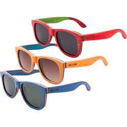 WUDN Recycled Skatedeck Ollie Black Sunglasses