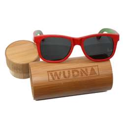 WUDN Recycled Skatedeck Bluntslide Red Sunglasses