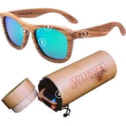 WUDN Real Walnut Wood Cat Eyes Sunglasses