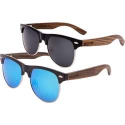 WUDN Real Ebony Browline Style Retro Shade Sunglasses