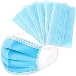 Disposable Face Mask 3 Ply (1x50Pcs) - Blue