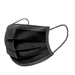 Disposable Face Mask 3 Ply (1x50Pcs) - Black