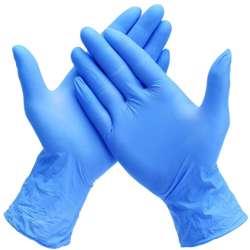 Nitrile Gloves Powder Free 1x100Pcs - Blue