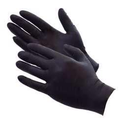 Nitrile Gloves Powder Free 1x100Pcs - Black
