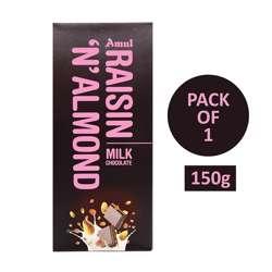 Amul Raisin N Almond Chocolate (40x150g)