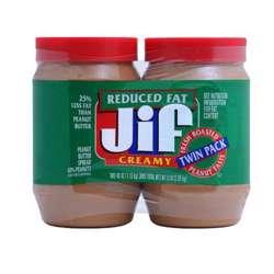 Jif Reduced Fat Creamy Peanut Butter (12x454g)