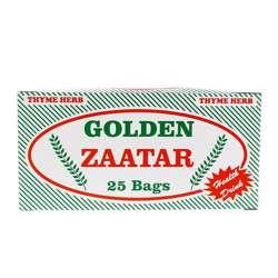 Golden Thyme Bags Zaatar Foil Wrapped Envelopes (36x25x2g)