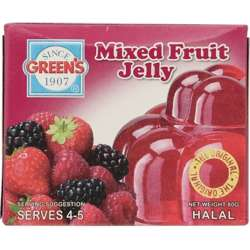 Greens Jelly Mixed Fruit (6x12x80g)