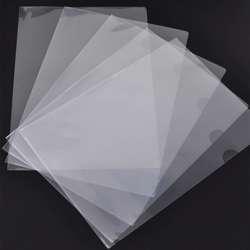 MultiOffice L-Shape Folder Embossed Transparent (1x100Pcs)