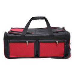 Smart Duffle Travelling Bag With Plastic Wheel (Black and Red Design) - 3 Different Sizes