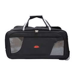 Smart Duffle Travelling Bag With Plastic Wheel (Black with Zebra Design) - 3 Different Sizes