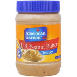 American Garden Chunky Peanut Butter (12x18oz)