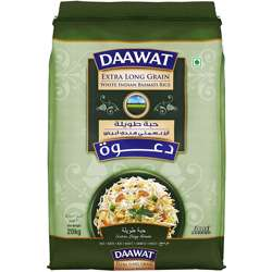 Daawat Bag Basmati Rice Hadeel Extra Long Grain Sella (1x20kg)