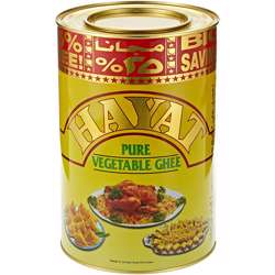 Hayat Ghee Tins Veg ghee 2Yr (4x5kg)