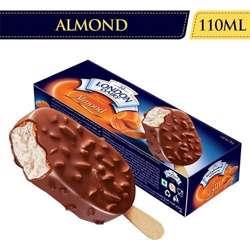 London Dairy Milk Based Chocolate Crunchy Almond Ice Cream Sticks (12x110ml)