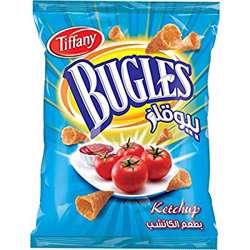 Tiffany Bugles Ketchup Flavour Potato Chips (4x12x25g)