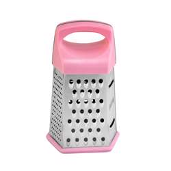 Delcasa DC1171 6 Sided Grater - Pink