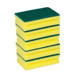 Delcasa DC1551 5Pcs Cleaning Sponge Green and Yellow Pack of 5