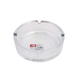 Delcasa DC1367 Glass Ashtray Portable Modern Ash Container Table Top