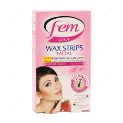 Fem Facial Wax Strip Sensitive (48x20''s)