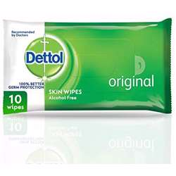 Dettol Anti-Bacterial Skin Wipes 10 Counts (1x24Pcs)