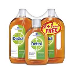 Dettol Antiseptic Liquid 750mlx2+500ml (1x6Pcs)