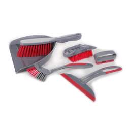 Delcasa DC1617 6Pcs Floor Cleaning Set with Dust Pan, Hard Brush, Soft Brush, Cleaning Brush, Squeegee
