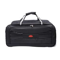 Smart Duffle Travelling Bag With Plastic Wheel (Black with Black Design) - 3 Different Sizes