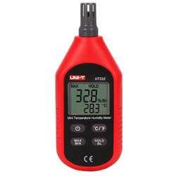 UNI-T UT333 Mini Temperature & Humidity Meter With Built-in Sensor (-10 - 60C)