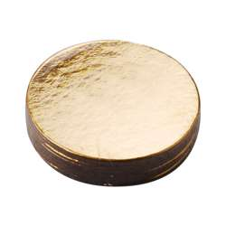 Cake Board 8.5 Cm Round Gold With Handle – 10 Pieces