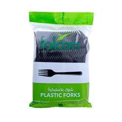 Falcon Plastic Fork Black – Pp (1 Pack X 50 Pieces)