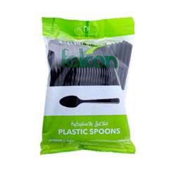 Falcon Plastic Spoon Black – Pp (1 Pack X 50 Pieces)